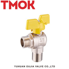 High quality External thread butterfly handle Brass gas valve